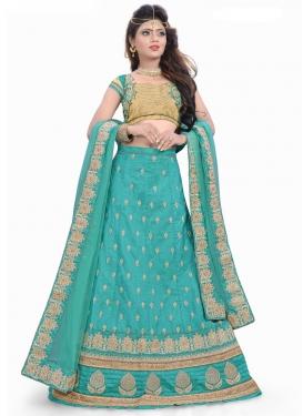 Lustrous  Silk Trendy A Line Lehenga Choli