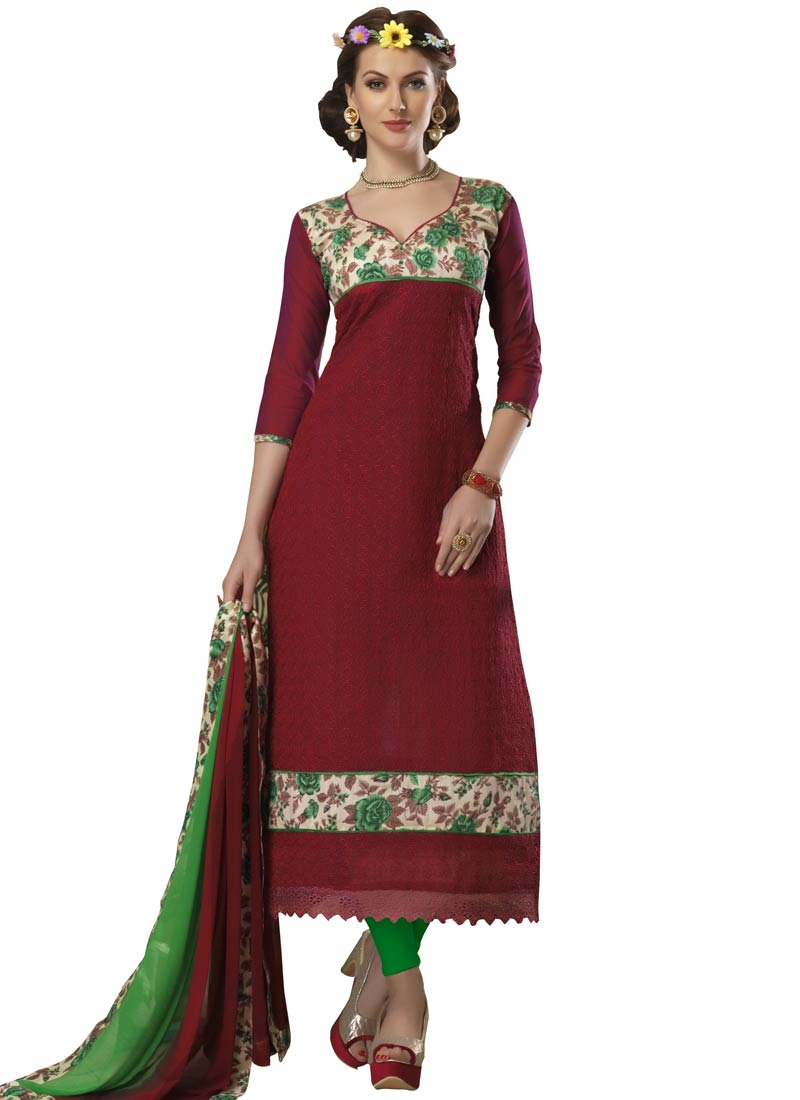 Luxurious Bhagalpuri Silk Casual Salwar Suit