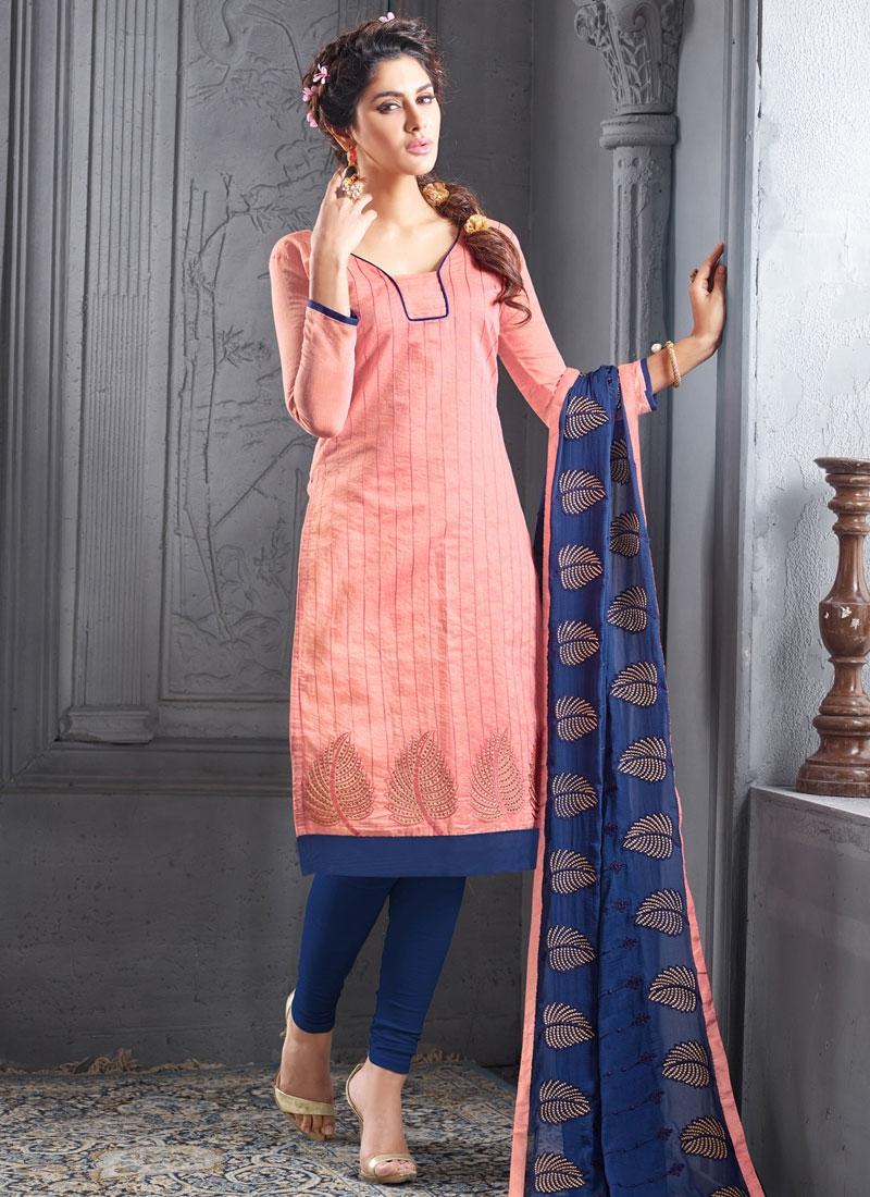 Luxurious Chanderi Cotton Casual Salwar Kameez
