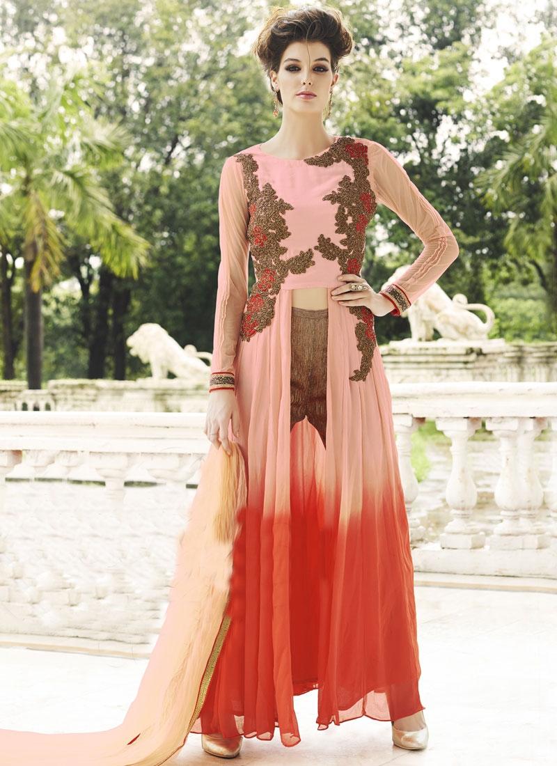 Luxurious Faux Georgette Designer Salwar Kameez
