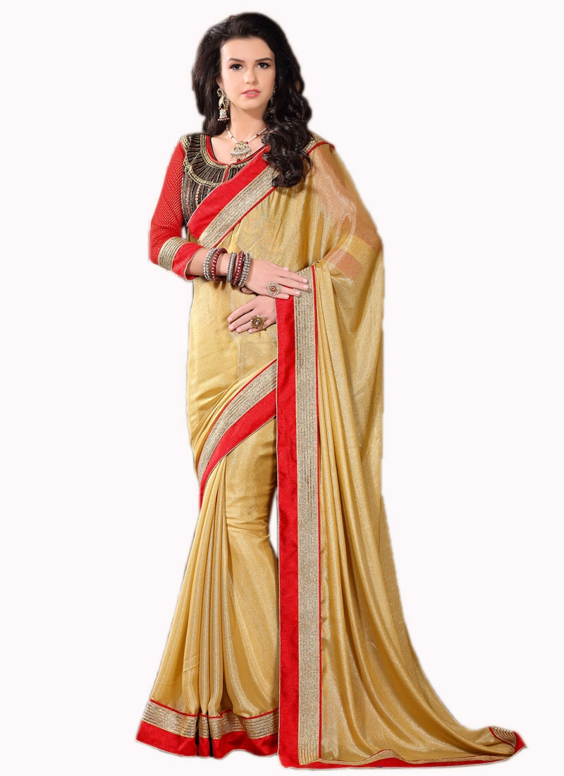 Luxurious Lace And Resham Work Party Wear Saree