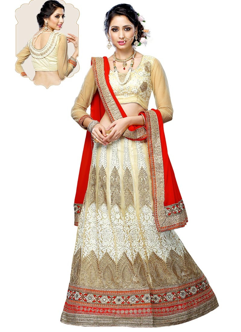 Luxurious Mirror And Booti Work Wedding Lehenga Choli