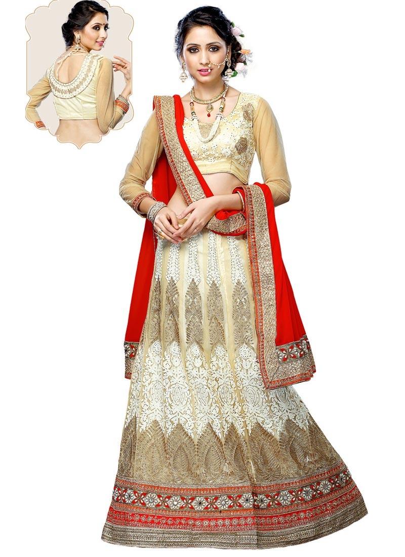 Luxurious Mirror And Booti Work Wedding Lehenga Choli