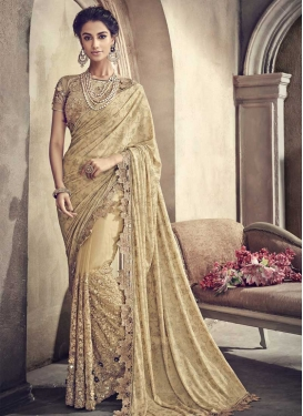 Lycra Beads Work Trendy Classic Saree