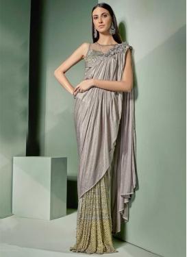 Lycra Classic Designer Saree For Festival