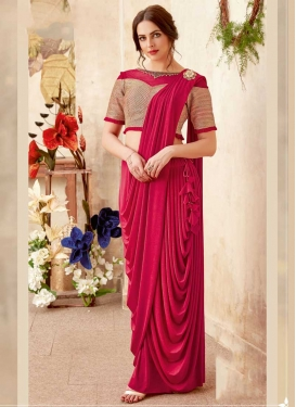 Lycra Contemporary Saree