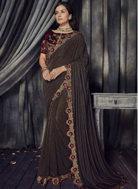 Lycra Contemporary Style Saree