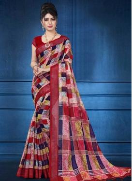 Lycra Designer Contemporary Saree For Ceremonial