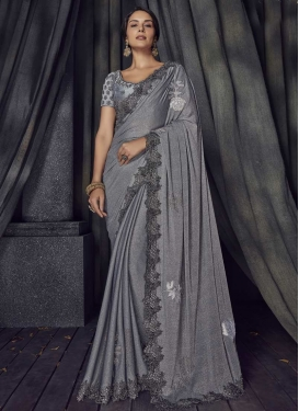Lycra Designer Contemporary Style Saree