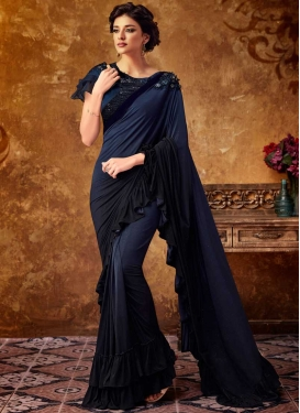 Lycra Designer Traditional Saree