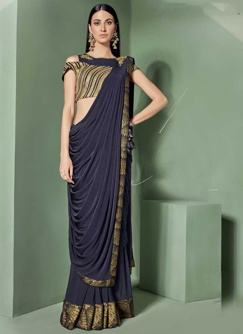 88bee7b0af Shop Lycra Designer Traditional Saree Online