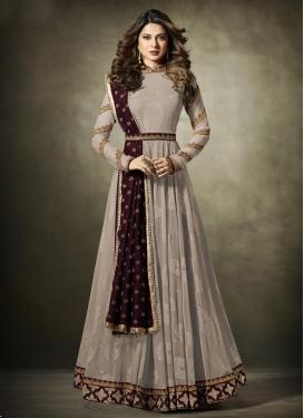 Lycra Floor Length Designer Salwar Suit