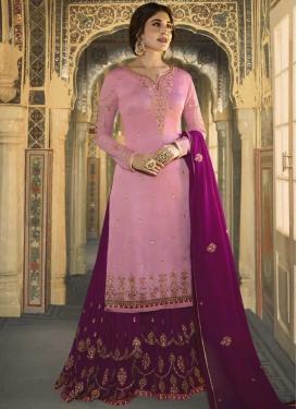 Magenta and Pink Sharara Salwar Suit