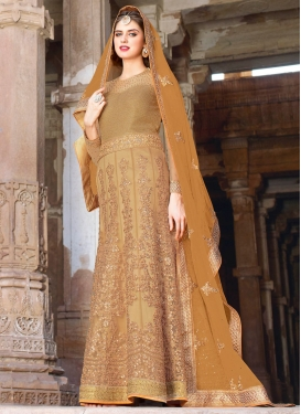 Magnetic Sequins Work Floor Length Wedding Salwar Kameez