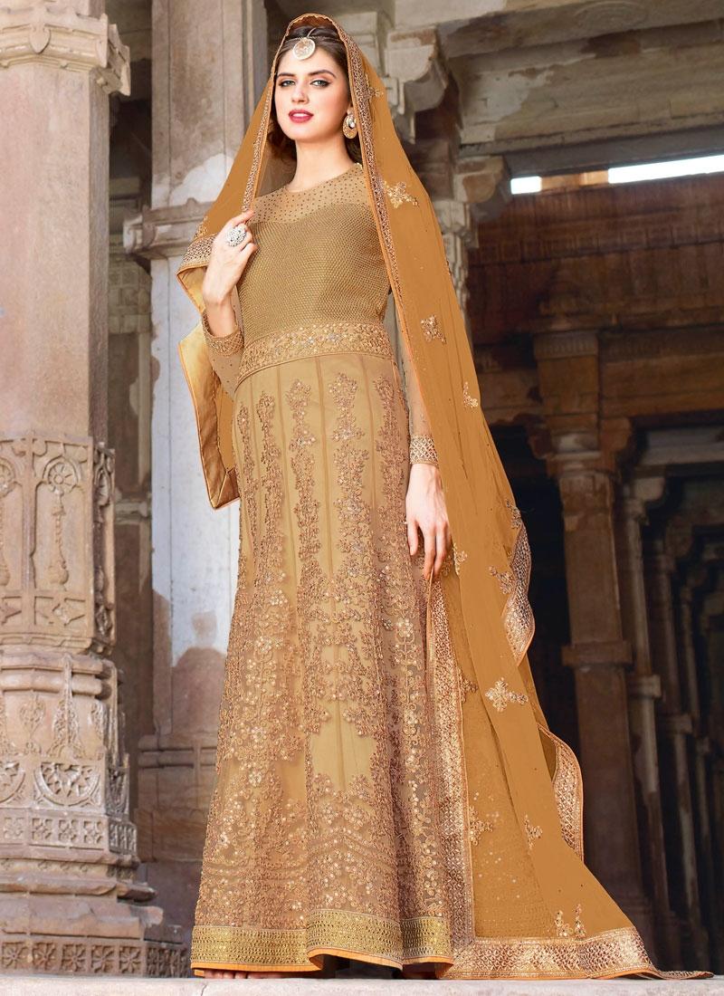 Magnetic Sequins Work Floor Length Wedding Salwar Kameez