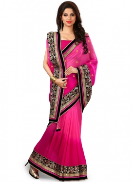 Magnetic Sequins Work Viscose Designer Saree