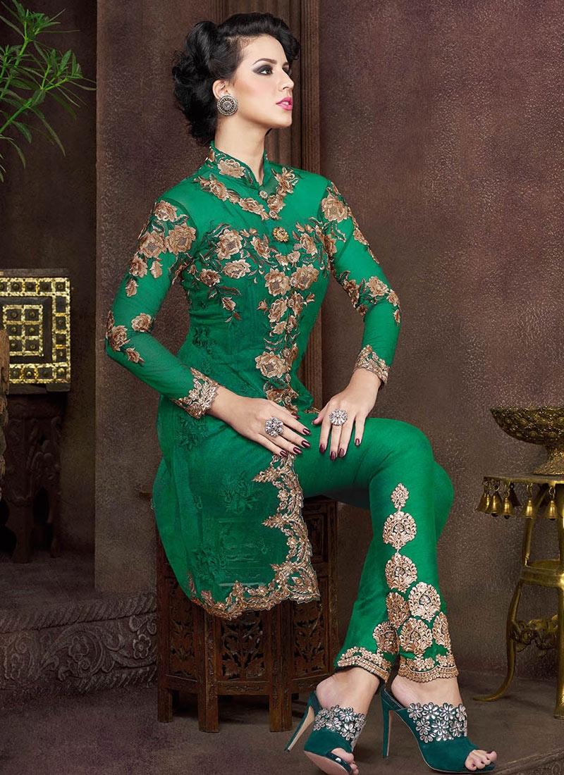 Magnetize Booti Work Pant Style Designer Salwar Kameez