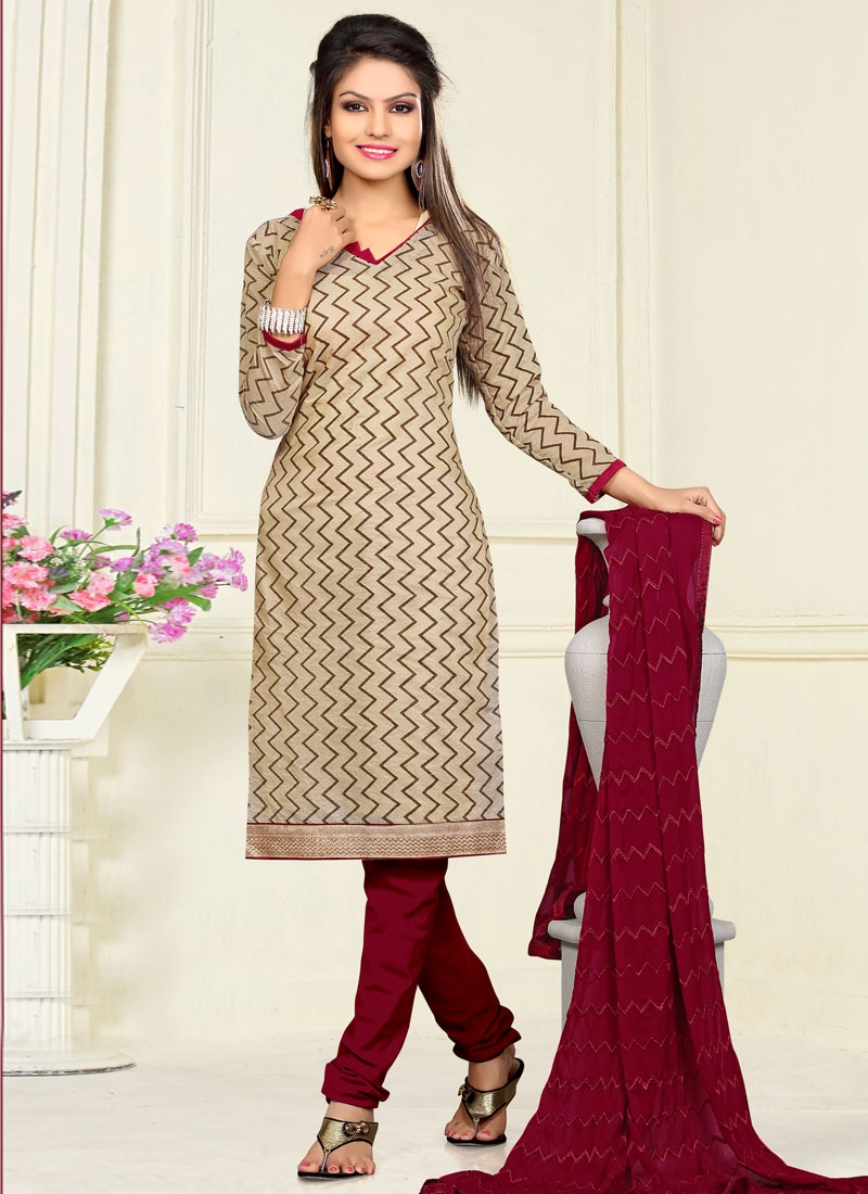 Magnetize Chanderi Cotton Casual Salwar Kameez