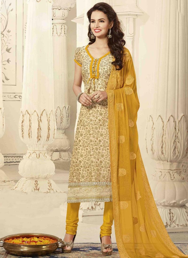 Chanderi Cotton Silk Casual Salwar Suit