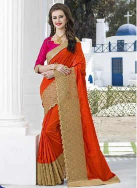 Magnetize Embroidered Work Art Silk Traditional Designer Saree