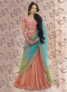 Magnetize Embroidered Work  Net Trendy Designer Lehenga Choli