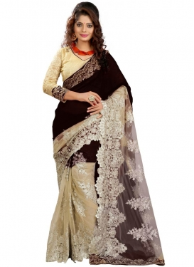 Magnetize Embroidery And Booti Work Designer Saree