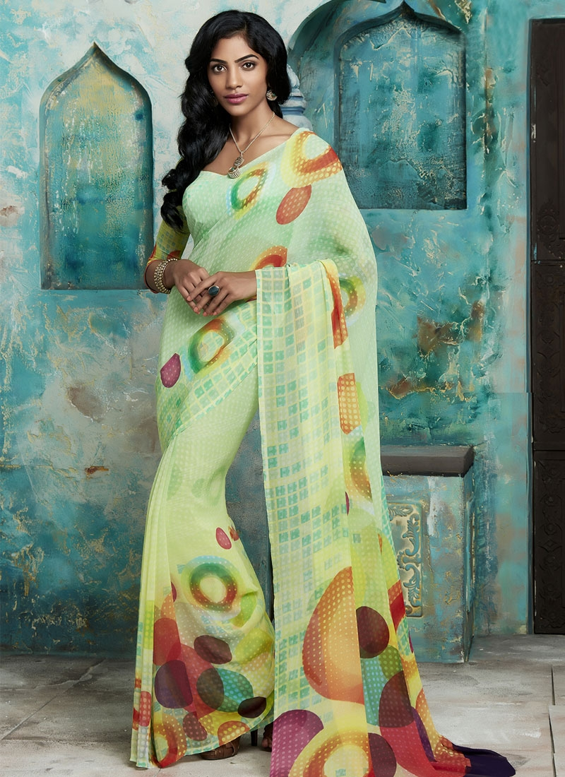 Magnetize Mint Green Color Casual Saree