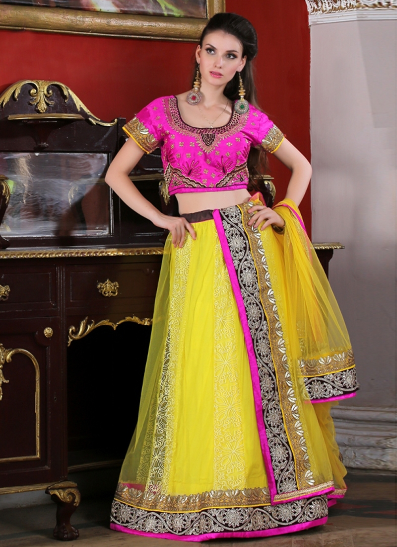 Magnetize Stone Work Party Wear Lehenga Choli