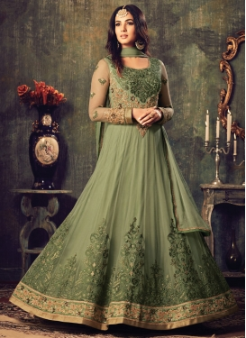Magnificent  Embroidered Work Floor Length Anarkali Salwar Suit