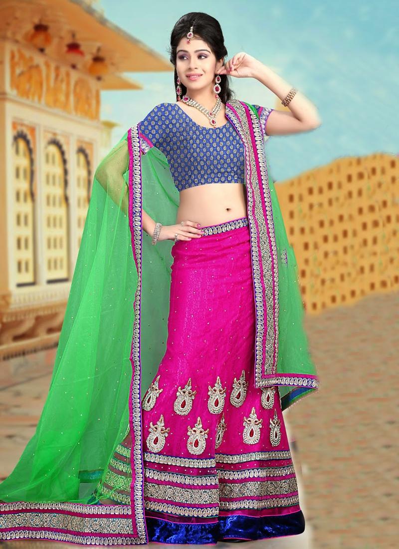 Magnificent Fuchsia Color Party Wear Lehenga Choli