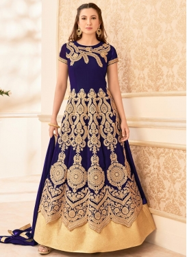Magnificent Gauhar Khan Faux Georgette Floor Length Anarkali Salwar Suit