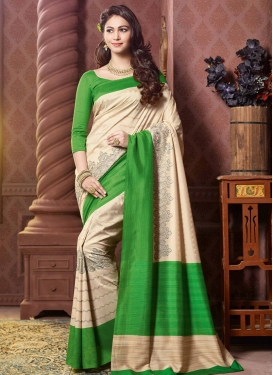 Magnificent Green Color Art Silk Party Wear Saree