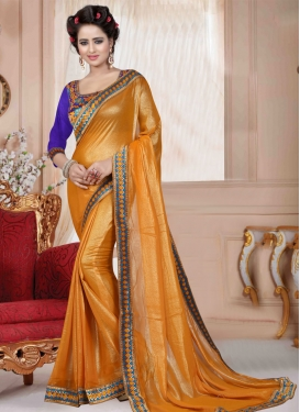 Magnificent Lace Work Faux Georgette Casual Saree