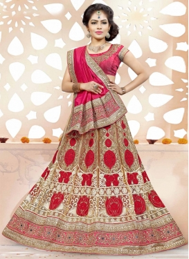 Magnificent  Net Embroidered Work A Line Lehenga Choli