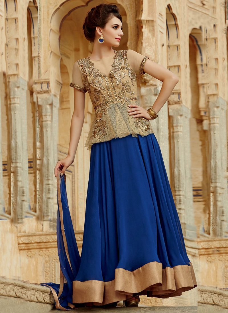 Magnificent Net Stone Work Long Length Designer Salwar Kameez