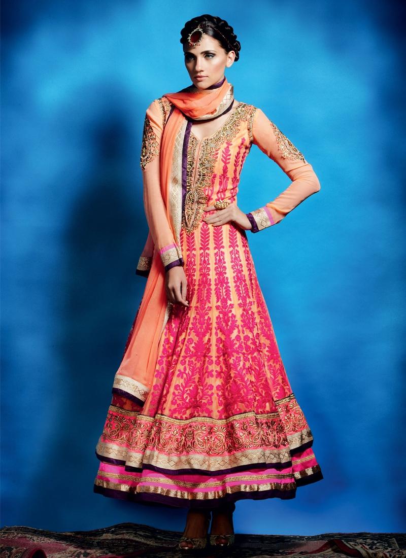 Magnificent Resham Enhanced Anarkali Salwar Suit