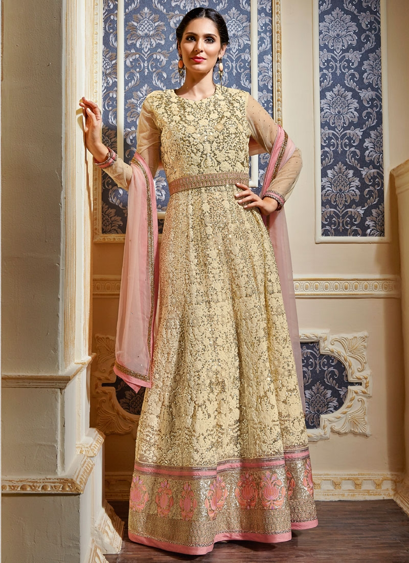 Magnificent Sequins Work Floor Length Wedding Salwar Suit
