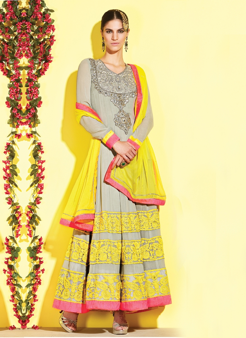 Magnificent Stone Work Anarkali Salwar Kameez