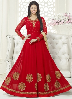 Maiden Ayesha Takia Embroidered Work Flaring Style Anarkali Suit