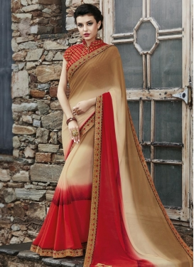 Maiden Faux Georgette Classic Saree For Ceremonial