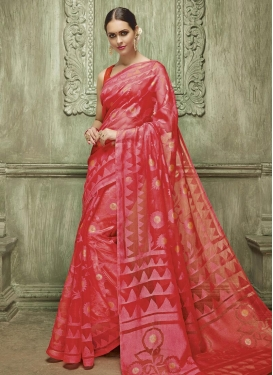 Maiden Thread Work Art Silk Classic Saree For Ceremonial