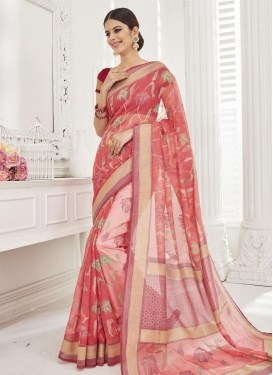 Majestic  Brasso Georgette Contemporary Saree For Festival