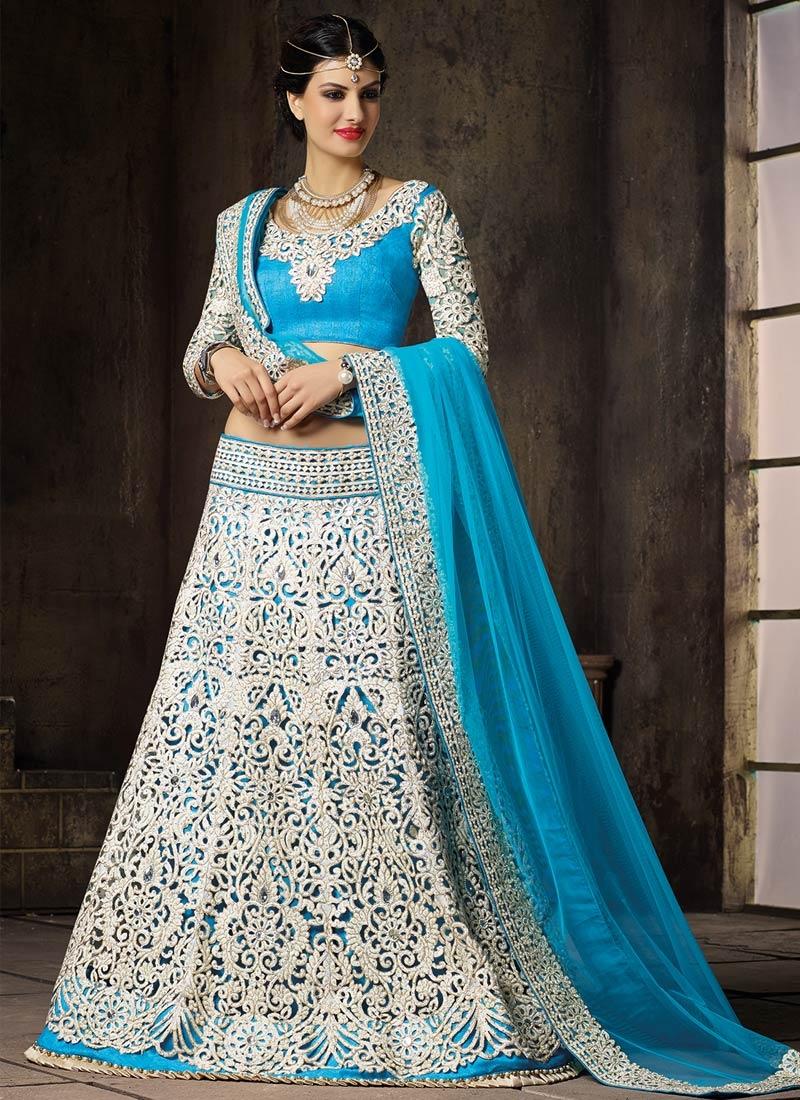 Majestic Cut Work Silk Bridal Lehenga Choli