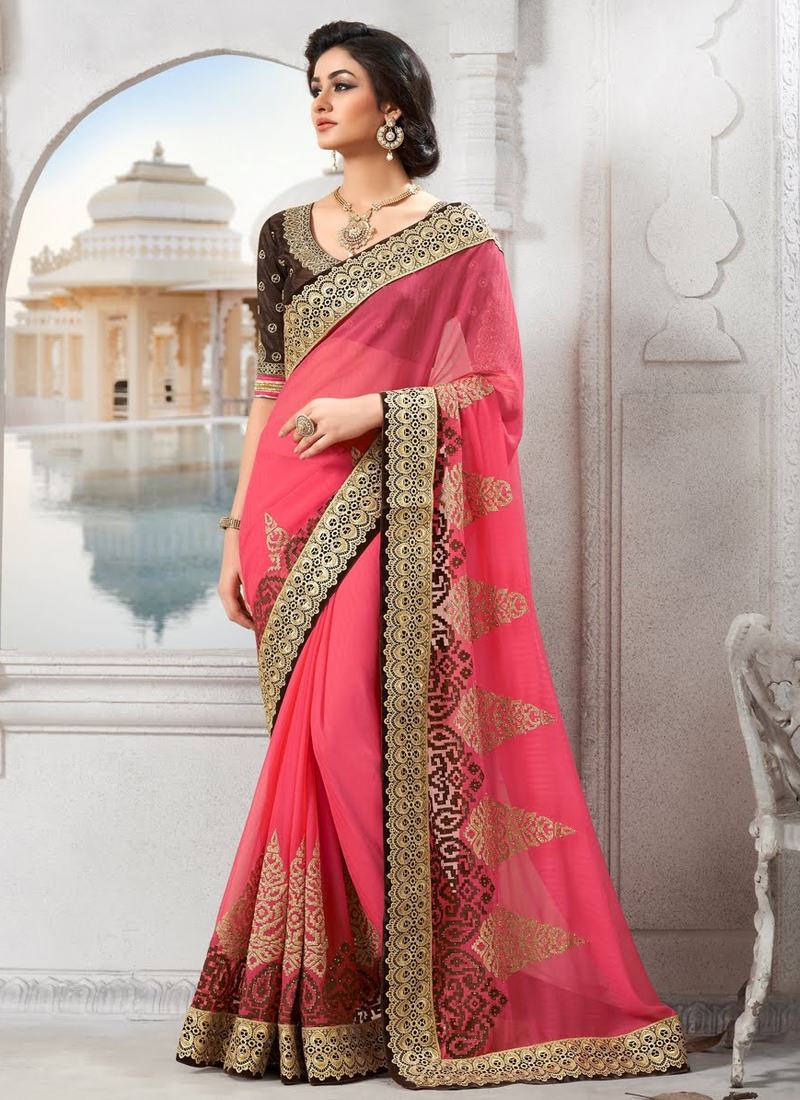 Majestic Faux Chiffon Party Wear Saree