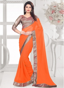 Majestic  Faux Georgette Trendy Saree For Casual
