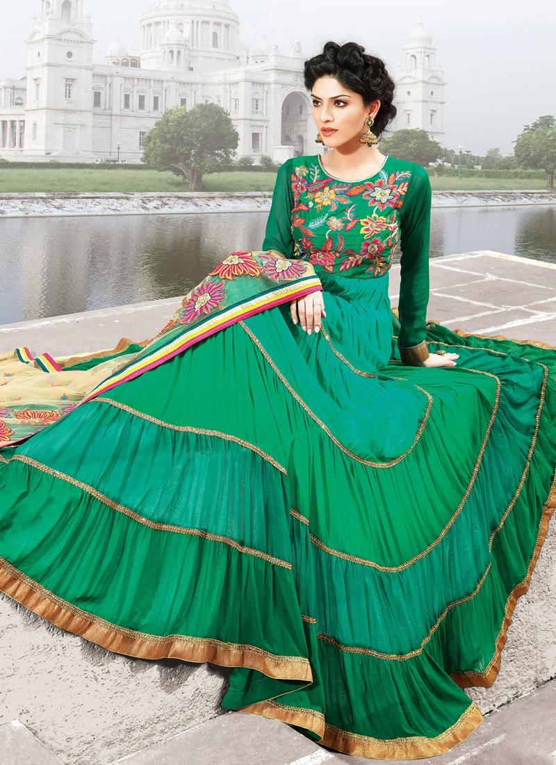 Majestic Green Color Designer Salwar Kameez