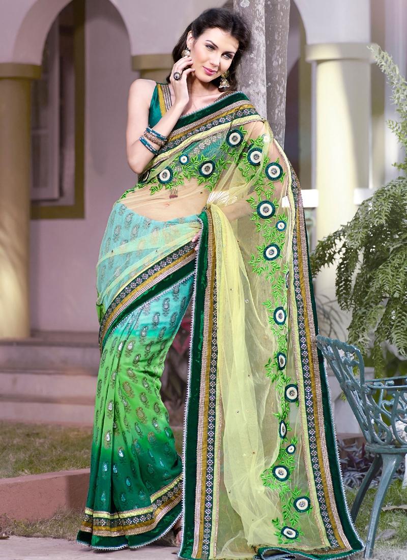 Majestic Multi Color Party Wear Saree