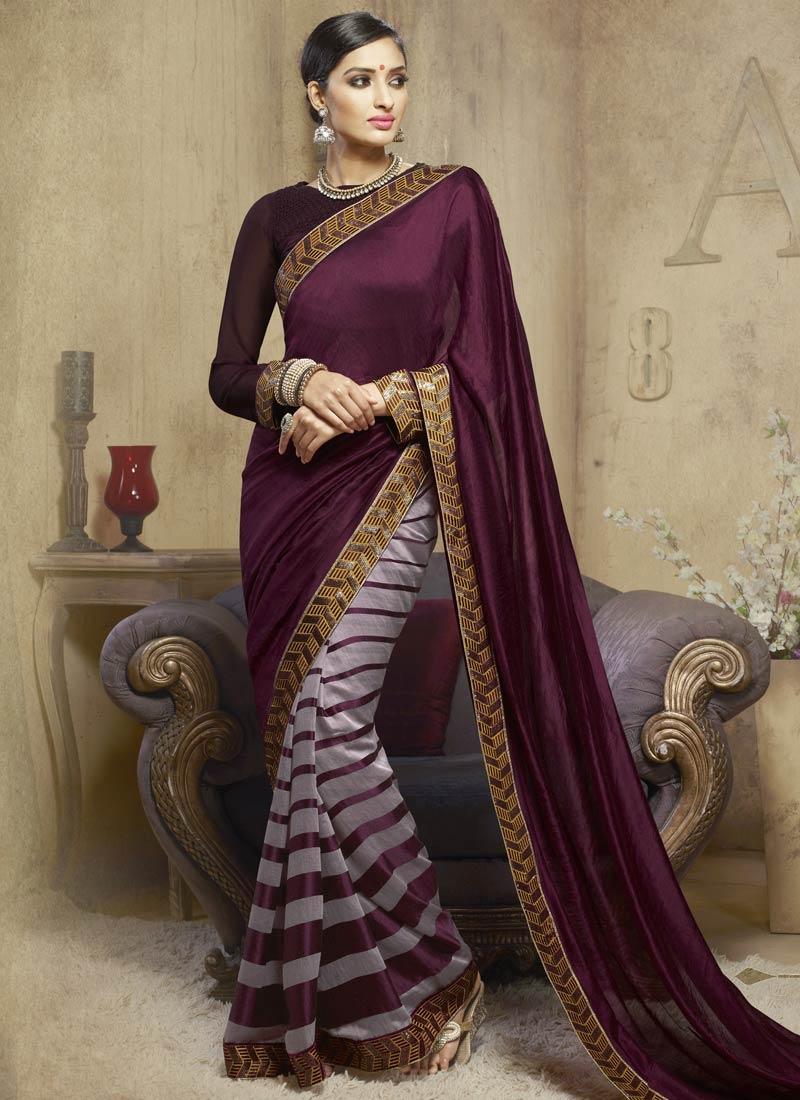 Majestic Sequins Work Viscose Half N Half Party Wear Saree