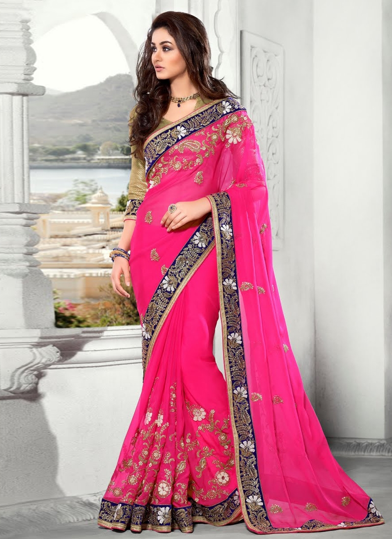 Majesty Embroidery Work Designer Saree