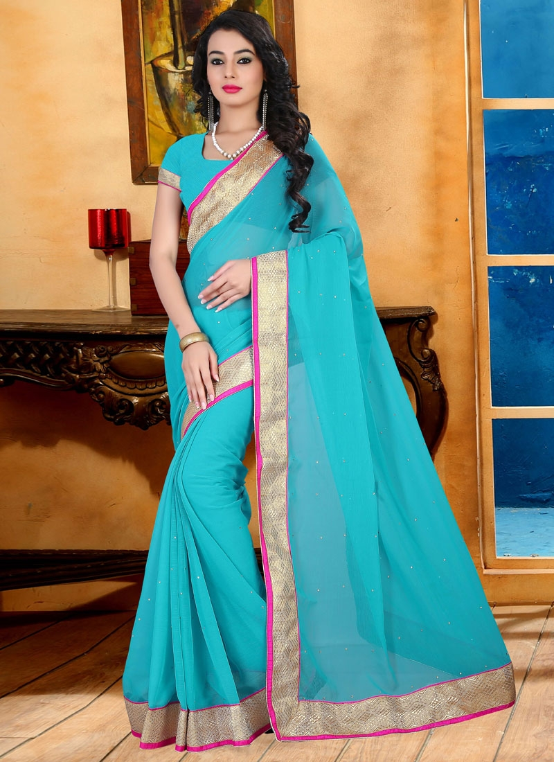 Majesty Faux Chiffon Casual Saree